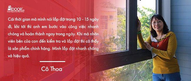 Cảm nhận của cô cô Thoa khi mua cửa nhôm Biên Hòa tại Adoor
