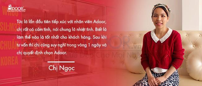 Cảm nhận của chị Ngọc khi mua cửa nhôm Biên Hòa Adoor