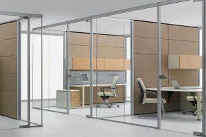 Cửa kính cường lực lùa dành cho văn phòng