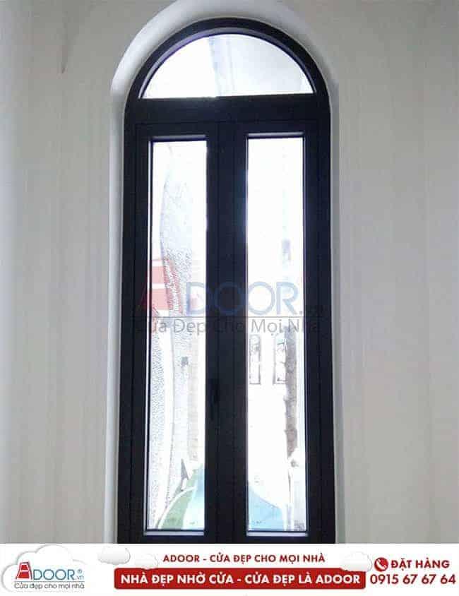 Mẫu cửa nhôm kính 2 cánh cao cấp