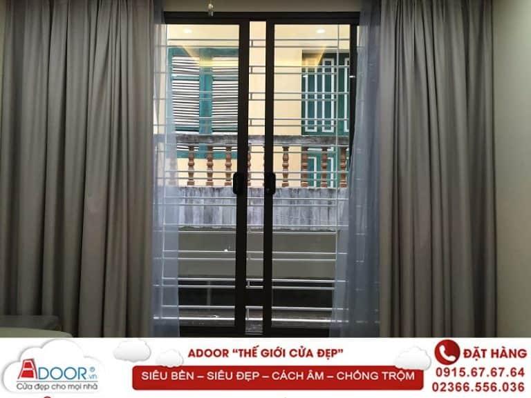 Mẫu cửa nhôm kính 2 cánh hệ cửa sổ