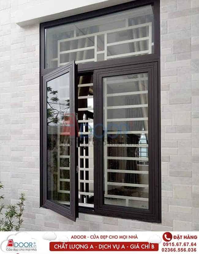 Mẫu cửa nhôm 2 cánh hệ cửa sổ