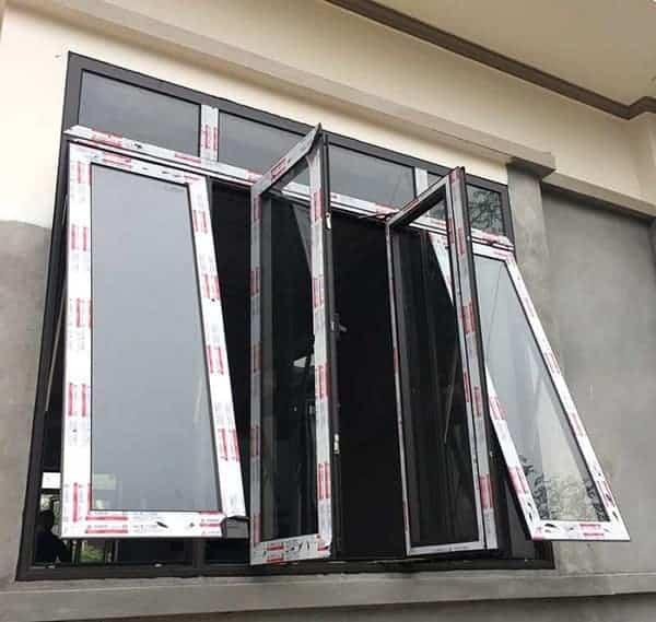 Mẫu Cửa sổ 4 cánh mở hất tại adoor