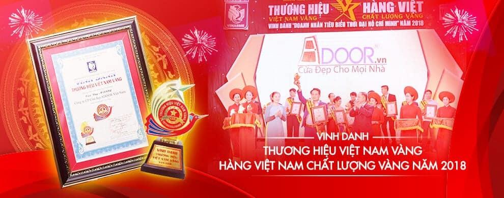Adoor vinh dự nhận giải thưởng Thương Hiệu Việt Nam Chất Lượng Cao vào năm 2018