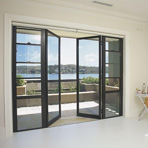 Cửa nhôm kính 4 cánh dạng mở quay cho phòng khách