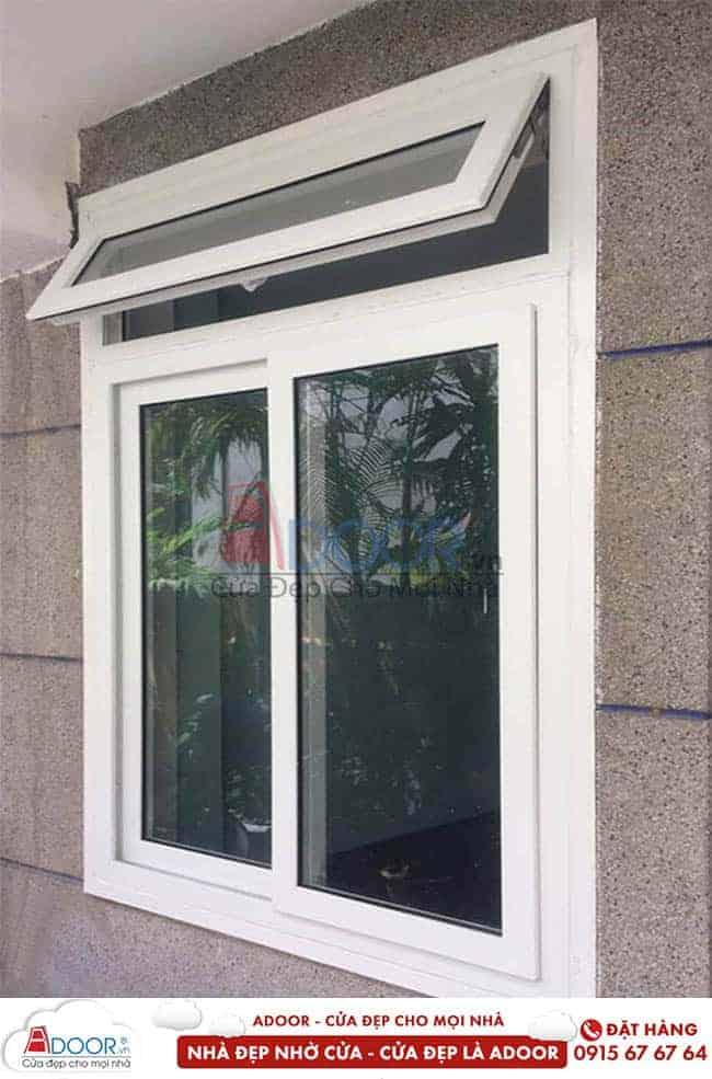 Cửa sổ nhựa lõi thép mở quay tại adoor