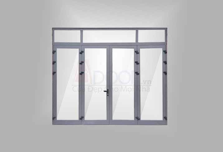 Mẫu cửa nhôm kính Xingfa 4 cánh mở quay