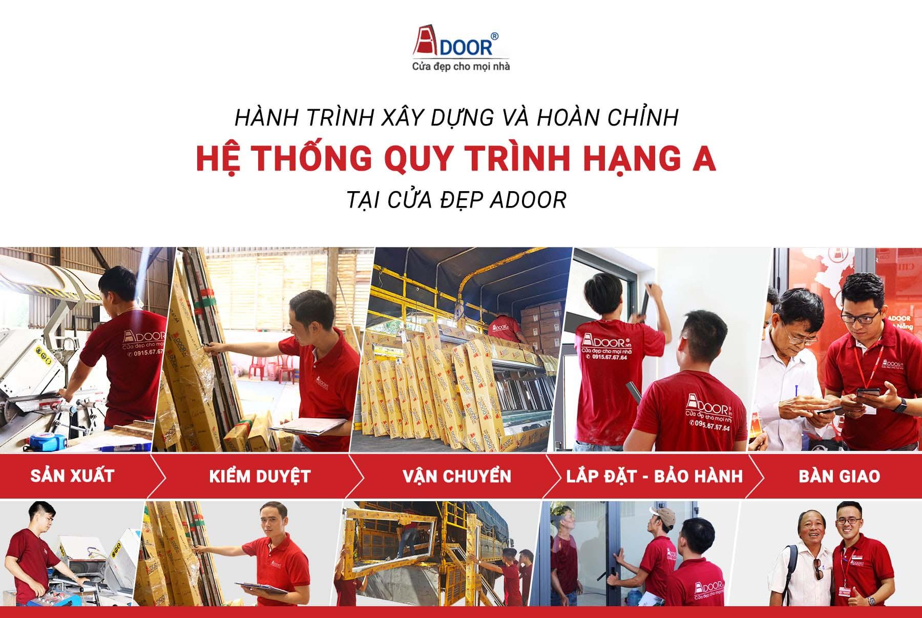 Quy trình thi công lắp đặt cửa nhôm tại Biên Hòa Adoor