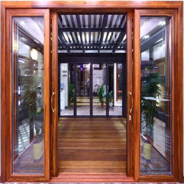 mẫu cửa khung gỗ kính cường lực