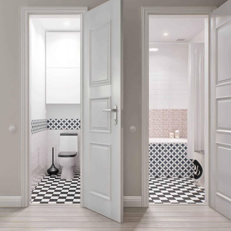 Cửa thông qua phòng tắm và phòng vệ sinh