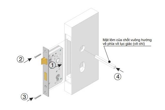 cách lắp khóa cửa nhựa lõi thép