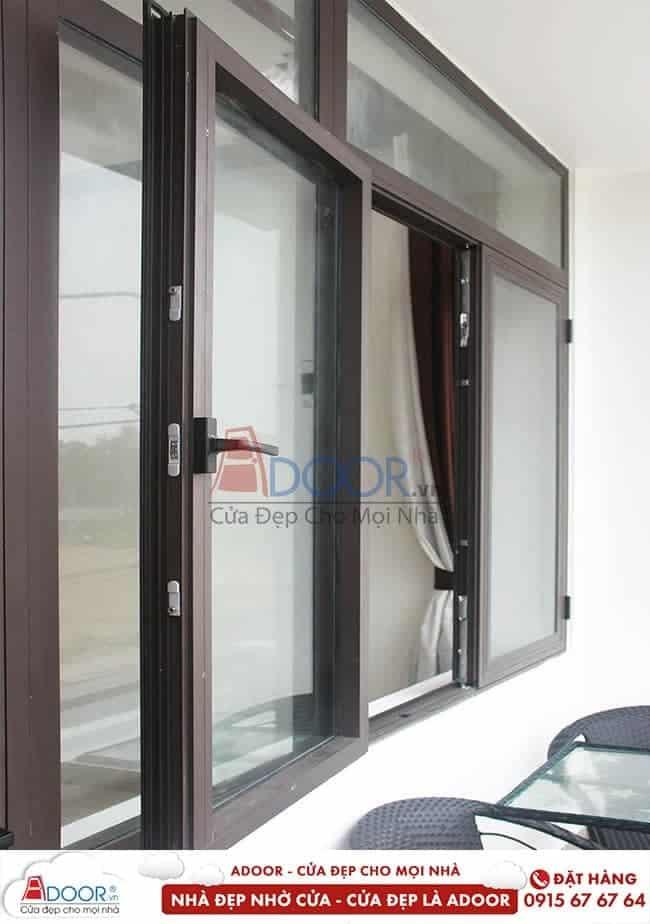 Mẫu cửa nhôm kính cao cấp hệ cửa sổ