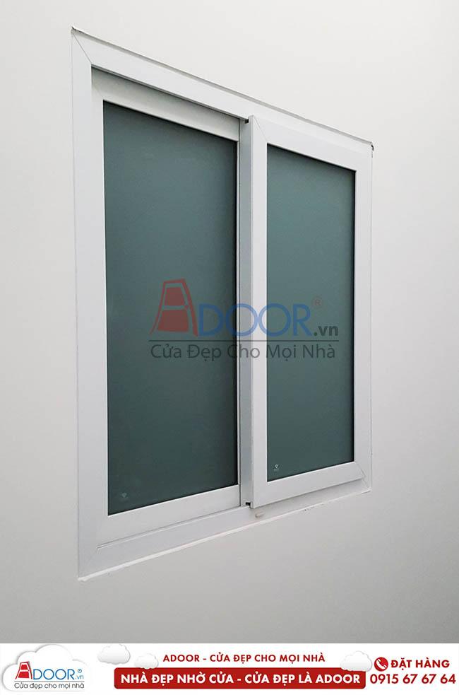 Đơn giá cửa nhựa lói thép hệ cửa sổ 2 cánh mở lùa