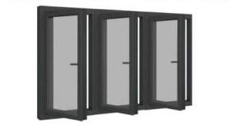 Cửa sổ nhôm kính 3 cánh mở quay