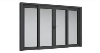 Cửa sổ nhôm kính 4 cánh mở lùa