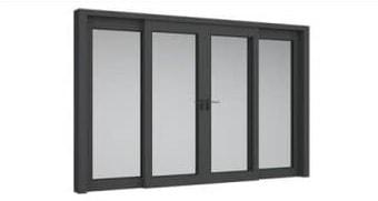 Cửa sổ nhôm 4 cánh mở lùa