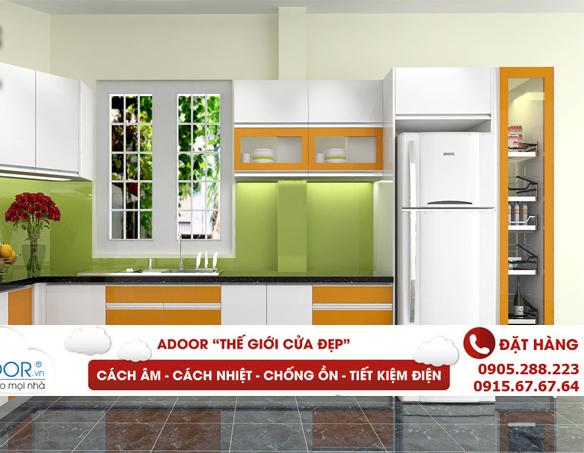 Cửa sổ nhôm phòng bếp phong cách châu Âu