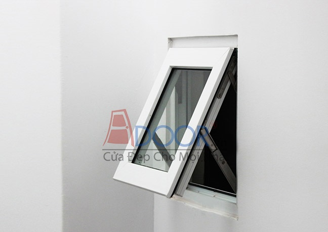 Mẫu cửa sổ nhựa lõi thép 1 cánh mở hất