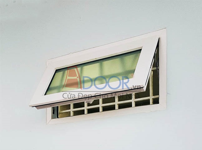 Mẫu cửa sổ nhựa lõi thép 1 cánh kiểu mở hất
