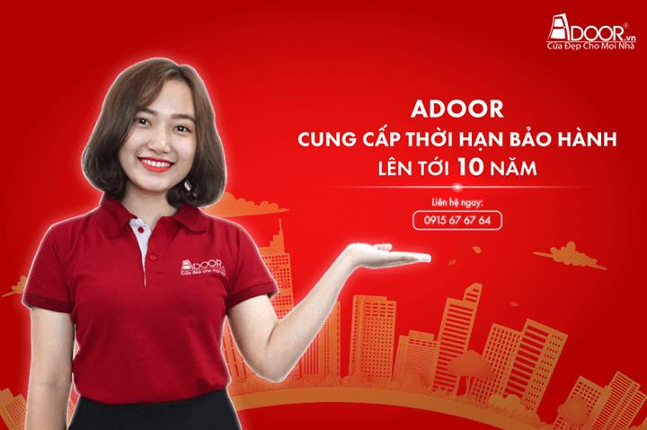 Bảo hành lên đến 10 năm khi mua cửa nhôm Đà Nẵng Adoor