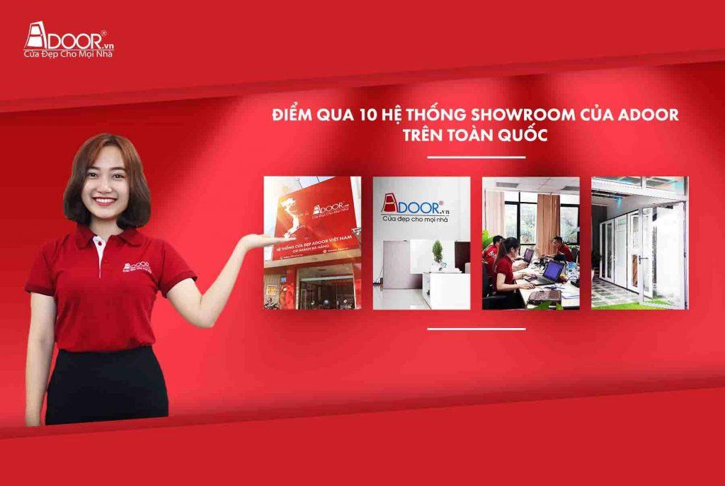 Showroom và chi nhánh của Adoor trên toàn quốc