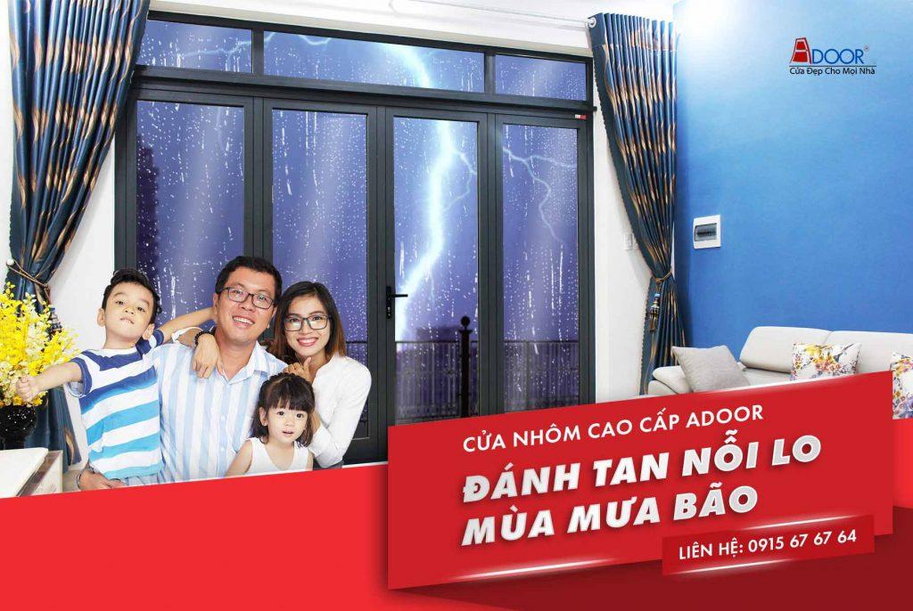 Cửa nhôm Xingfa Adoor bền bỉ