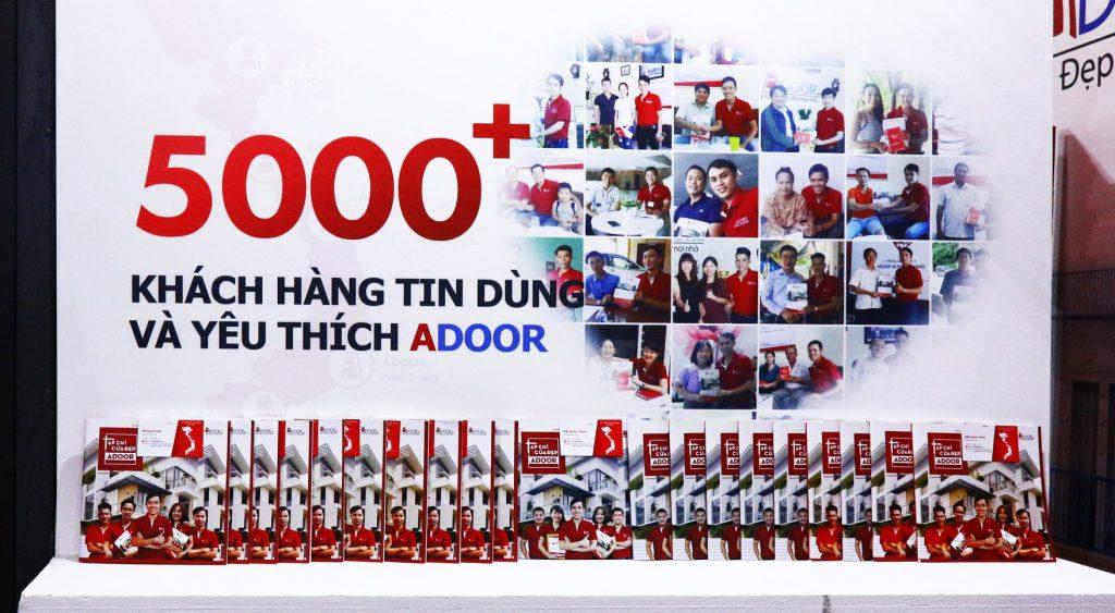 5000+ khách hàng đã tin dùng sản phẩm tại Adoor