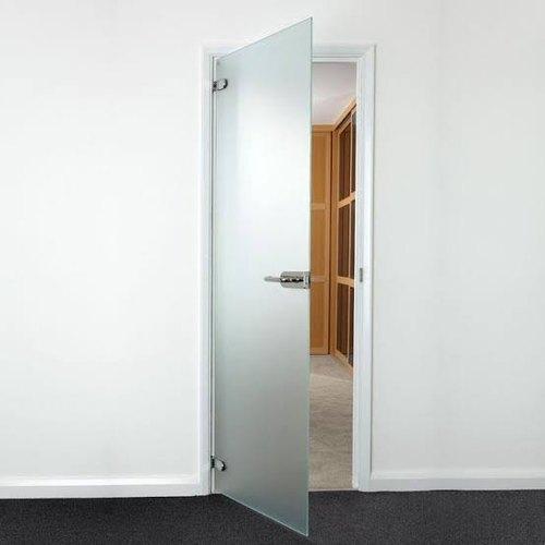 Mẫu cửa kính cường lực 1 cánh văn phòng