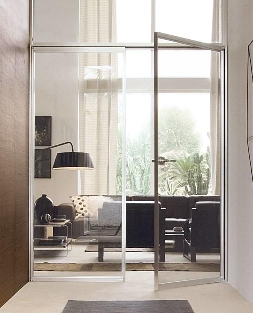 Mẫu cửa kính cường lực 2 cánh đẹp dành cho phòng khách