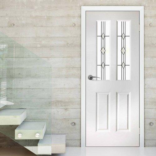 Mẫu cửa nhôm Xingfa 1 cánh nhà vệ sinh kiểu chia ô màu trắng
