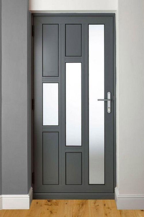 Mẫu cửa nhôm Xingfa 1 cánh phòng ngủ màu đen chia ô