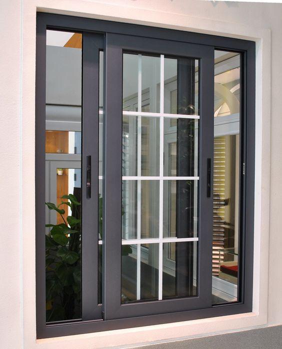 Mẫu cửa nhôm kính 2 cánh đẹp mở lùa phòng khách