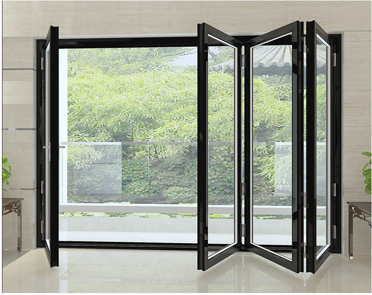 Mẫu cửa nhôm Xingfa 4 cánh xếp trượt cho cửa kính