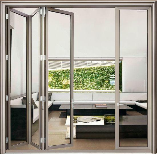 Mẫu cửa nhôm Xingfa 4 cánh xếp trượt cho phòng khách