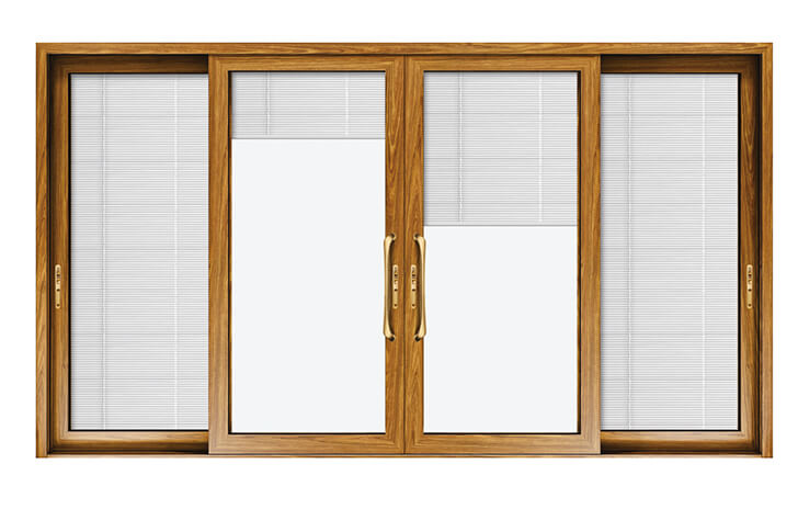 mẫu cửa nhôm kính 4 cánh (Hệ cửa sổ mở lùa)