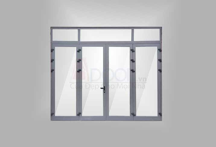 mẫu cửa nhôm kính 4 cánh đẹp hệ cửa sổ