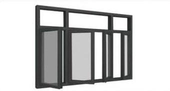 Giá cửa sổ nhôm Xinga 4 cánh mở quay