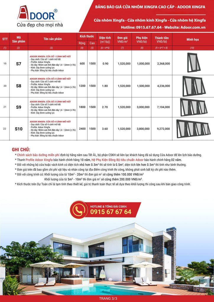 Giá cửa nhôm kính cao cấp